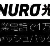 NURO光の窓口から営業電話!2年解約しなければ1万円キャッシュバックですって!?のイメージ画像